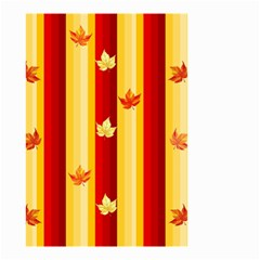 Autumn Fall Leaves Vertical Small Garden Flag (two Sides) by Celenk