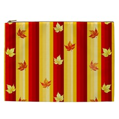 Autumn Fall Leaves Vertical Cosmetic Bag (xxl)  by Celenk