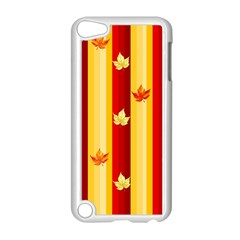 Autumn Fall Leaves Vertical Apple Ipod Touch 5 Case (white) by Celenk