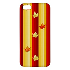 Autumn Fall Leaves Vertical Apple Iphone 5 Premium Hardshell Case