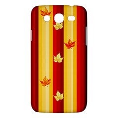 Autumn Fall Leaves Vertical Samsung Galaxy Mega 5 8 I9152 Hardshell Case  by Celenk