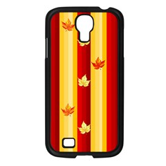 Autumn Fall Leaves Vertical Samsung Galaxy S4 I9500/ I9505 Case (black) by Celenk