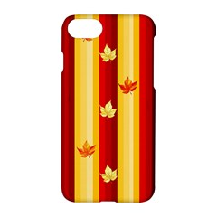 Autumn Fall Leaves Vertical Apple Iphone 7 Hardshell Case by Celenk