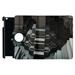 Fractal Render Cube Cubic Shape Apple Ipad 2 Flip 360 Case by Celenk