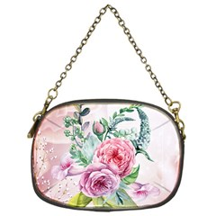Flowers And Leaves In Soft Purple Colors Chain Purses (one Side)  by FantasyWorld7