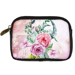 Flowers And Leaves In Soft Purple Colors Digital Camera Cases by FantasyWorld7