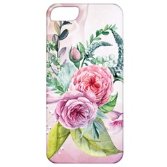 Flowers And Leaves In Soft Purple Colors Apple Iphone 5 Classic Hardshell Case by FantasyWorld7