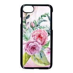Flowers And Leaves In Soft Purple Colors Apple Iphone 8 Seamless Case (black) by FantasyWorld7