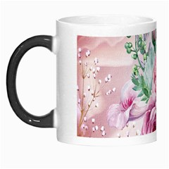 Flowers And Leaves In Soft Purple Colors Morph Mugs by FantasyWorld7