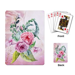 Flowers And Leaves In Soft Purple Colors Playing Card by FantasyWorld7