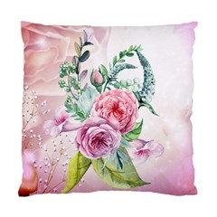 Flowers And Leaves In Soft Purple Colors Standard Cushion Case (two Sides) by FantasyWorld7