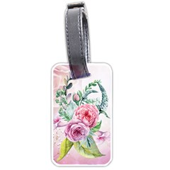 Flowers And Leaves In Soft Purple Colors Luggage Tags (two Sides) by FantasyWorld7
