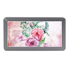 Flowers And Leaves In Soft Purple Colors Memory Card Reader (mini)