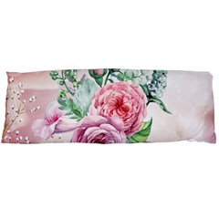 Flowers And Leaves In Soft Purple Colors Body Pillow Case (dakimakura) by FantasyWorld7