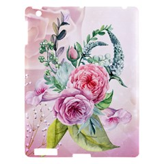 Flowers And Leaves In Soft Purple Colors Apple Ipad 3/4 Hardshell Case by FantasyWorld7