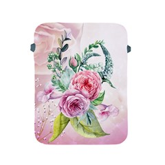 Flowers And Leaves In Soft Purple Colors Apple Ipad 2/3/4 Protective Soft Cases by FantasyWorld7