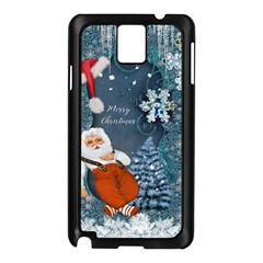 Funny Santa Claus With Snowman Samsung Galaxy Note 3 N9005 Case (black) by FantasyWorld7