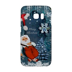 Funny Santa Claus With Snowman Galaxy S6 Edge by FantasyWorld7