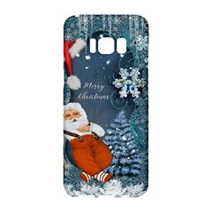 Funny Santa Claus With Snowman Samsung Galaxy S8 Hardshell Case  by FantasyWorld7