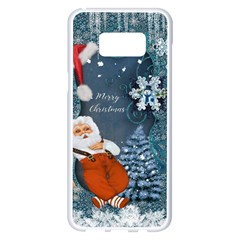 Funny Santa Claus With Snowman Samsung Galaxy S8 Plus White Seamless Case by FantasyWorld7