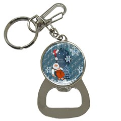 Funny Santa Claus With Snowman Bottle Opener Key Chains by FantasyWorld7