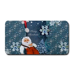 Funny Santa Claus With Snowman Medium Bar Mats by FantasyWorld7