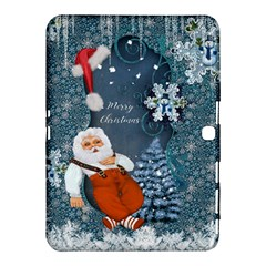 Funny Santa Claus With Snowman Samsung Galaxy Tab 4 (10 1 ) Hardshell Case  by FantasyWorld7