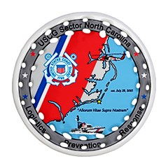 Coast Guard Sector North Carolina  Round Filigree Ornament (two Sides) by allthingseveryday