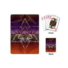 Cube Of Metatrone Diamond Playing Cards (mini)  by Cveti