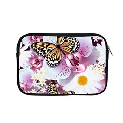 Butterflies With White And Purple Flowers  Apple Macbook Pro 15  Zipper Case by allthingseveryday