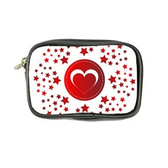 Monogram Heart Pattern Love Red Coin Purse