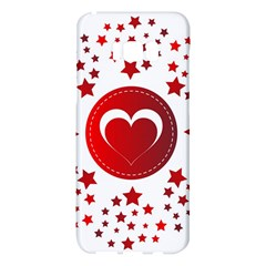 Monogram Heart Pattern Love Red Samsung Galaxy S8 Plus Hardshell Case