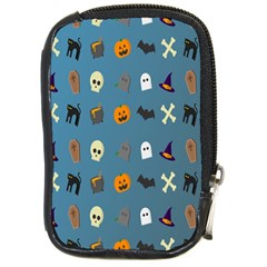 Halloween Cats Pumpkin Pattern Bat Compact Camera Cases by Celenk