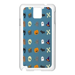 Halloween Cats Pumpkin Pattern Bat Samsung Galaxy Note 3 N9005 Case (white) by Celenk
