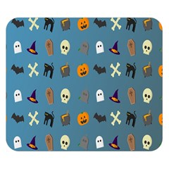 Halloween Cats Pumpkin Pattern Bat Double Sided Flano Blanket (small)  by Celenk