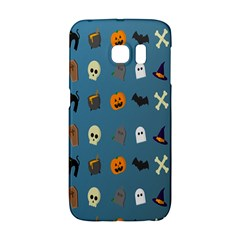 Halloween Cats Pumpkin Pattern Bat Galaxy S6 Edge by Celenk