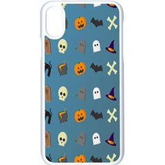 Halloween Cats Pumpkin Pattern Bat Apple Iphone X Seamless Case (white) by Celenk
