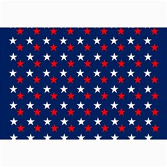 Patriotic Red White Blue Stars Blue Background Canvas 24  X 36  by Celenk