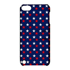 Patriotic Red White Blue Stars Blue Background Apple Ipod Touch 5 Hardshell Case With Stand by Celenk