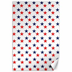 Patriotic Red White Blue Stars Usa Canvas 24  X 36  by Celenk