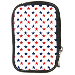 Patriotic Red White Blue Stars Usa Compact Camera Cases