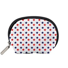 Patriotic Red White Blue Stars Usa Accessory Pouches (small)  by Celenk