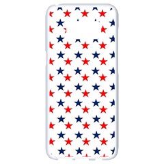 Patriotic Red White Blue Stars Usa Samsung Galaxy S8 White Seamless Case by Celenk