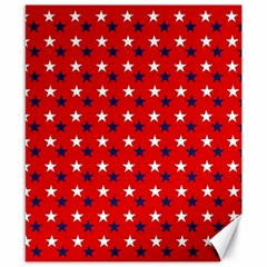 Patriotic Red White Blue Usa Canvas 8  X 10