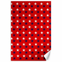 Patriotic Red White Blue Usa Canvas 24  X 36  by Celenk
