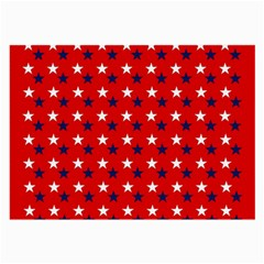 Patriotic Red White Blue Usa Large Glasses Cloth (2 Side) by Celenk