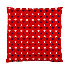 Patriotic Red White Blue Usa Standard Cushion Case (two Sides)