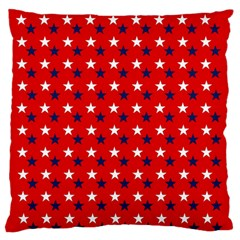 Patriotic Red White Blue Usa Standard Flano Cushion Case (one Side) by Celenk