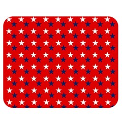Patriotic Red White Blue Usa Double Sided Flano Blanket (medium)  by Celenk