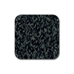 Camouflage Tarn Military Texture Rubber Square Coaster (4 Pack)